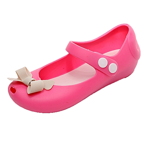 be9e80b4ee5b Fashion jiuhap store Cute Bows Crystal Jelly Sandals Children Shoes Girl  Non-Slip Kids Sandal Shoes-Pink