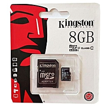 Memory Card - Micro SD - 8GB - Black.