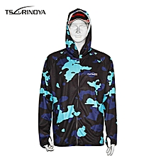 Sun Protection Top Long Sleeve Breathable Fast Dry  - Navy Camouflage