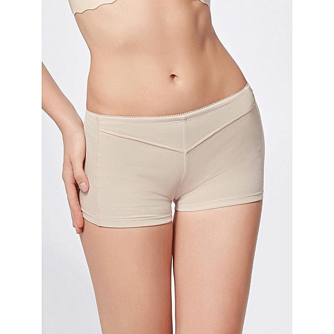 8c8fa6e2b ... Women Butt Lifter Shaper Bum Lift Pants Buttocks Enhancer Boyshorts Booty  Briefs-Apricot ...