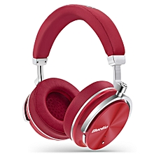 T4 Portable Noise Cancelling Bluetooth Headphones - Red