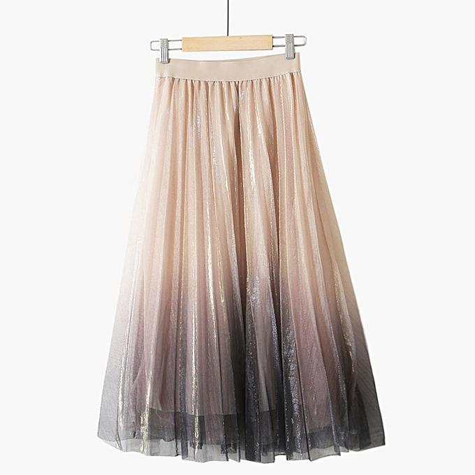 f5fdfe275e jiahsyc store Women Long Tulle Tutu Skirt Princess Sweet Skirts Party Beach  Multi Layers Skirt