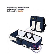 4 IN 1 FOLDING BABY DIAPER BAG, BASSINET, FOLDING CRIB  Navy Blue
