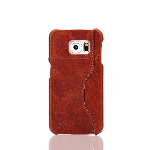 22f1be5bc8f Generic For Samsung Galaxy S6 Edge 5.1 Inch Cases Genuine Leather Fashion  Back Case Cover With Card Holder