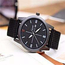 Seiko 5 Sports  Automatic Watch Casual Atmosphere Male Canvas Watch Quartz(Black)