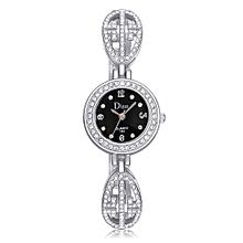 Rose Gold Plated Women's Elegant Rhinestone Bracelet Fashion Watches D