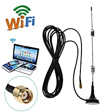 Hot RP-SMA 2.4GHz 7 DBI Wireless Wifi WLAN Router 5 X Range Booster Antenna 50 W