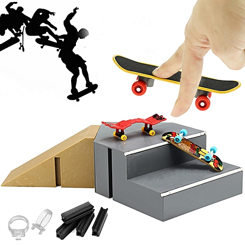 Details about Ultimate Skate Park Ramp Parts With 2 Tech Deck Fingerboard  Finger Board Toy