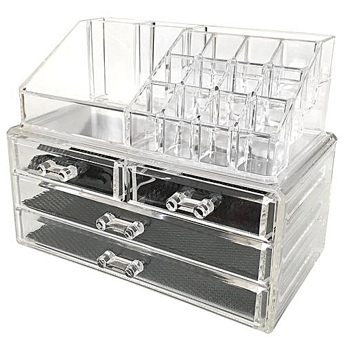 fe10b21ade6e Fashion Acrylic Cosmetic Organizer Jewelry Storage Makeup Organizer Display  Boxes,Clear
