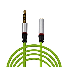 4FT 3.5mm 4-Pole AUX Extension Cable Stereo Audio Headphone Male to Female-Green