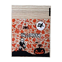 100pcs/bag Halloween Skull Plastic Bag Adhesive Candy Cookie Packaging Bags - Multicolor