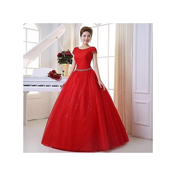 213ad369f2 Strapless A-line Red Ball Gown Plus Size Wedding Dresses With Sleeves  (Color:c0)
