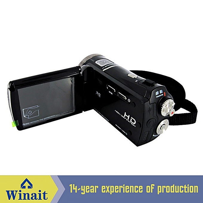 Winait 2017 cheap HDV-T92 digital video camera with Dual solar panel as  battery charger Blink Detect Function Audio Recording TIMESHOP