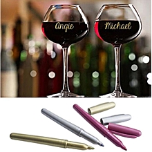 3pcs Party Marker Metallic Wine Glass Pens Clever Effective Way to Identify