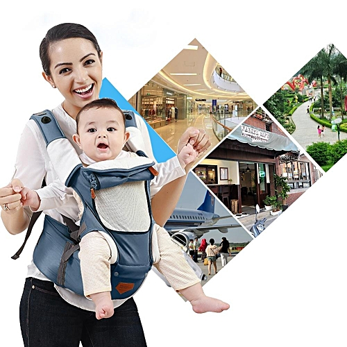 d7f0054c290 UNIVERSAL (Buy 1 Get 1 Free Gift) Baby Hip Seat Carrier Sling Backpack  (Light Blue)