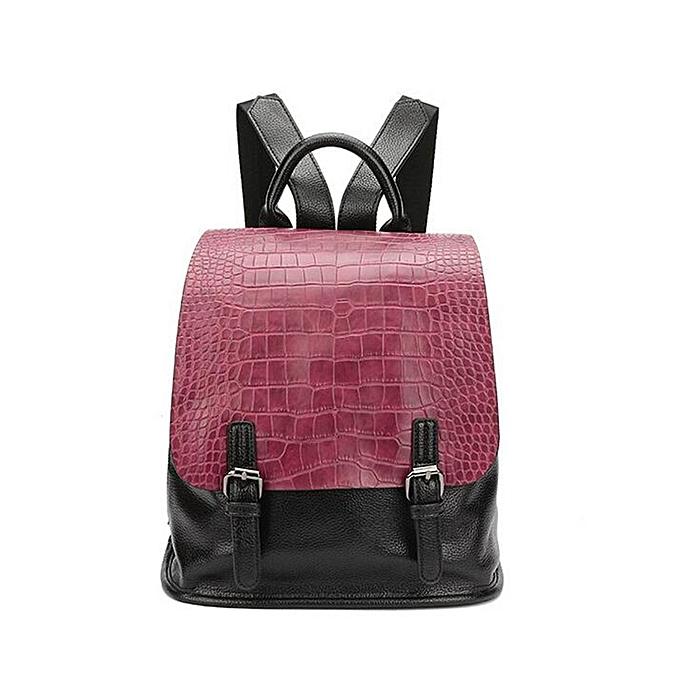 707bf52ad7 Vintage Women PU Leather Backpack Daypack School Bookbag Rucksack Shoulder Bag  Red