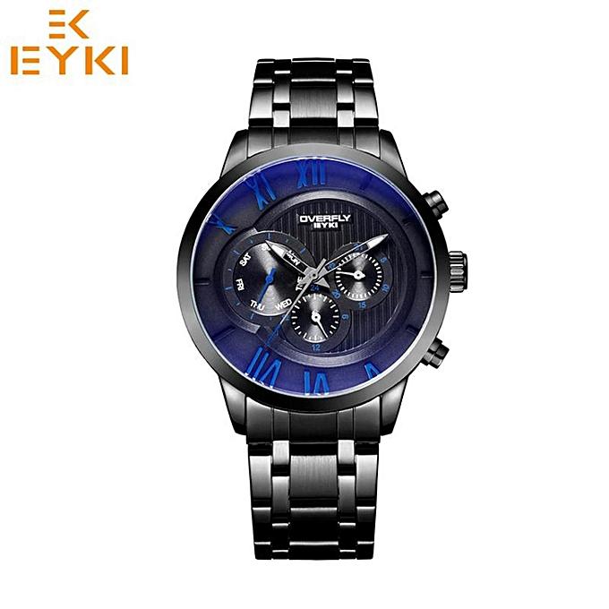 9f9af098ab6 EYKI EYKI Luxury Men sapphire coated sport watch fashion luminous quartz  wristwatch Male waterproof stainless steel Relogio Masculino (Blue) WWD