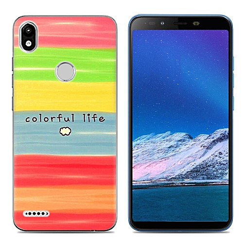 size 40 cedf1 c4796 Infinix Smart 2 (X5515) (3PCS X Phone Case) Silicone Case TPU Anti-knock  Phone Back Cover - Multi-color(Colorful Block+Dazzle+Flowers)