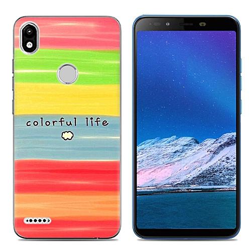 size 40 a114b 0f0ef Infinix Smart 2 (X5515) (3PCS X Phone Case) Silicone Case TPU Anti-knock  Phone Back Cover - Multi-color(Colorful Block+Dazzle+Flowers)