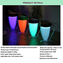Moonlight cup atmosphere LED small night light humidifier the USB mini humidifie-Blue