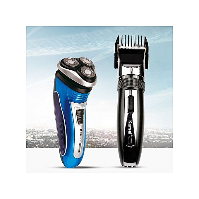 Men's Hair Clipper Hair Trimmer Haircut+Triple Blade Floating Heads Electric Shaver Shaving Razors