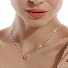 New Fashion Hot Sale  Gift The Only! Silver Plated Symbol Love Clavicle Pendant Necklace Valentine's Day Gift