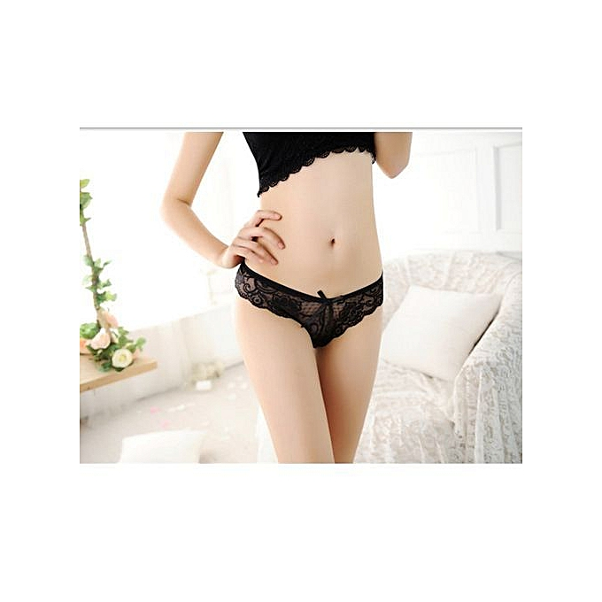78e294454b93 Refined Sexy Ladies Underwear Lace Low Waist Transparent Seamless Underwear  Women's Hollow Lace Panty Thong-