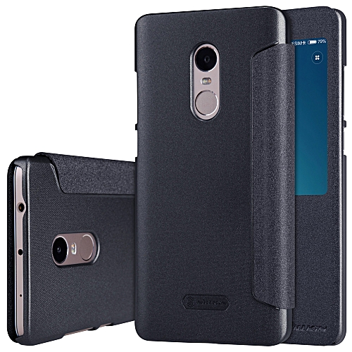 best cheap a8e5b c435b NILLKIN Elegant Flip Cover Shell PU Leather Protective Case Book Flip with  Window View Stand Cellphone Cover for Xiaomi Redmi Note 4