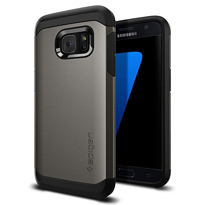 online store 80452 b096c Tough Armor Galaxy S7 Edge Case with Kickstand and Extreme Heavy Duty  Protection and Air Cushion Technology for Samsung Galaxy S7 Edge 2016 -  Gunmetal