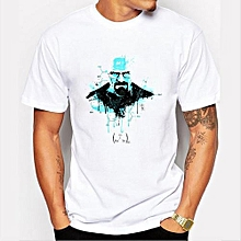 Refined Men's Fashion Art Design Heisenberg Printing T-shirt Refined Breaking Bad Tee Shirts Hipster Cool Tops-Color 6