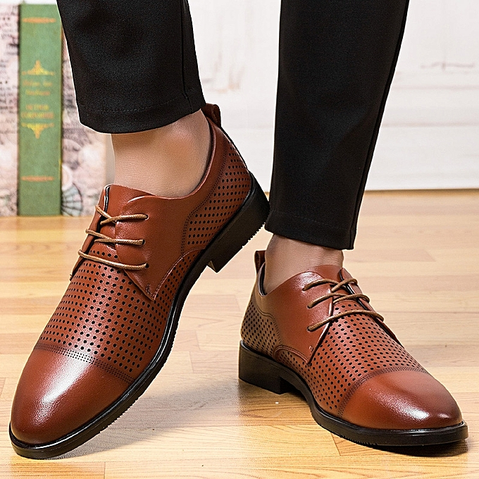 Tauntte Hollow Out Mens Office Formal Shoes Breathable Business