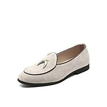 Men Shoes Casual Moccasins (Beige)