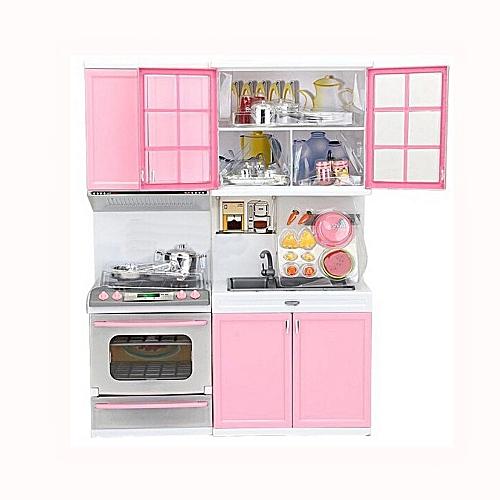 Generic Xmas Gift Mini Kids Kitchen Pretend Play Cooking Set Cabinet