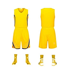 ebe74e07e Customized Students Men  039 s Basketball Team Casual Sport Jersey-Yellow(GY