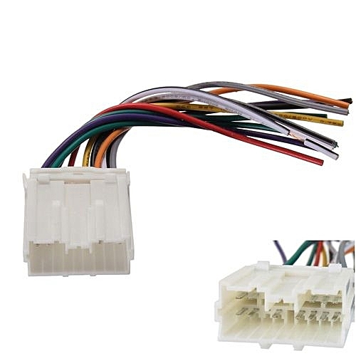 universal car stereo cd player wiring harness wire aftermarket radio install  for mitsubishi #dwh612
