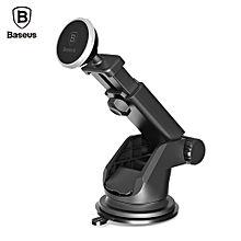 Solid Series Telescopic Magnetic Suction Bracket Car Mount Phone Holder - Silver