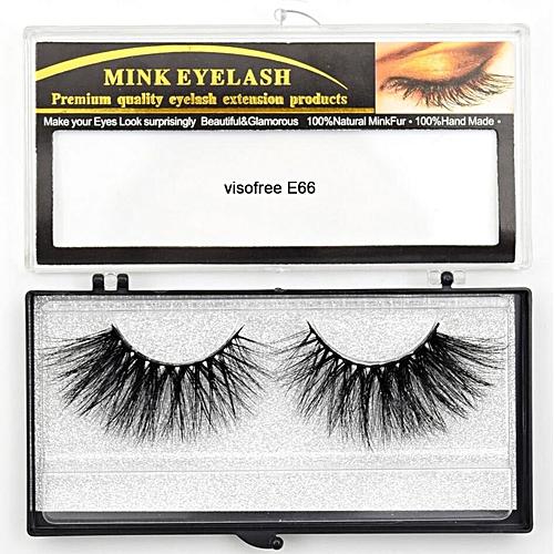 4e35c853155 Generic Eyelashes Mink Eyelashes Criss-cross Strands Cruelty Free High  Volume Mink Lashes Soft Dramatic Eye lashes E80 Makeup(visofree E66)