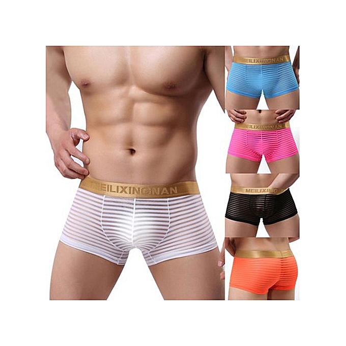 Underwear Men Boxers Milk Silk Fabrics Sexy U Convex Transparent Transparent Mens Underwear Underwear Men Boxers Boxers