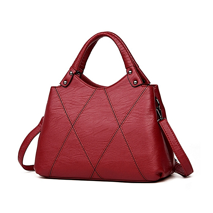 e6d451e20dc Buy Fashion Women Pu Leather Tote Handbag Classic Crossbody Bag ...