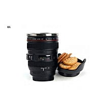 Camera Lens Coffee Mug - Black