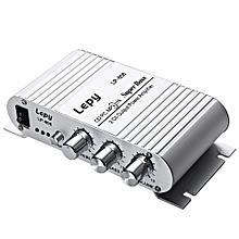 808 12V Protable HiFi Audio Stereo Amplifier-SILVER
