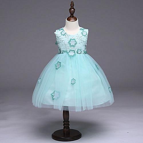 a52be9f48db4 Generic Girl s Flower Princess Dress Costume Flower Girl s Dress ...