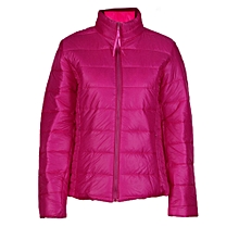 Africanmall store Women Coat Fashion Autumn Winter Women Jacket Female Casual Basic Jackets Hot/L-Hot Pink