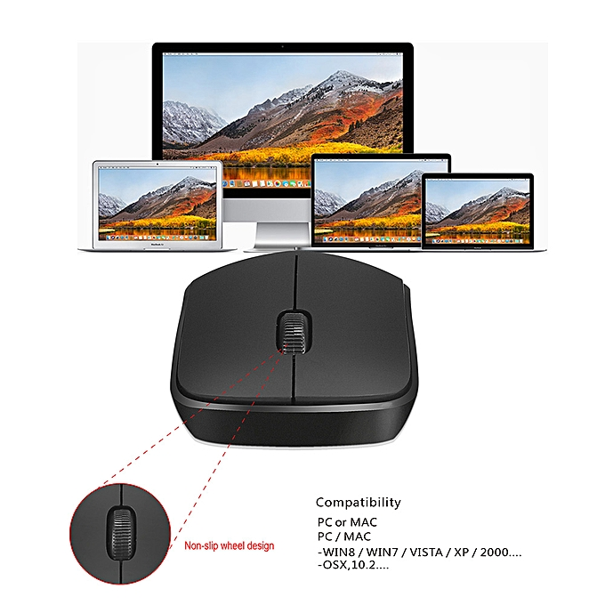 ZERODATE T16 2 4G 1600 DPI Wireless Portable Mobile Mouse 3-Button USB  Optical Mouse with USB Receiver High-definition Optical Sensor for PC  Laptop