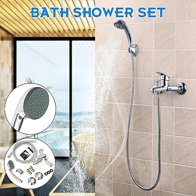 Buy Generic Chrome Wall Mounted Bathroom Bathtub Shower Faucet Set