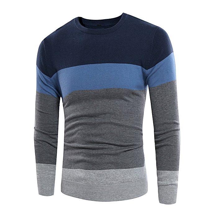 6d76532c8 Generic Zacard Autumn Winter Warm Men Sweater Mix Color Stitching ...