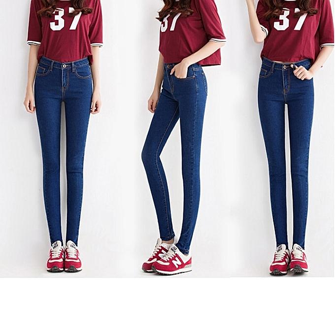bba8d703c6b7 Fashion Skinny Jeans Woman High Waist Stretch Denim Pencil Trouser ...