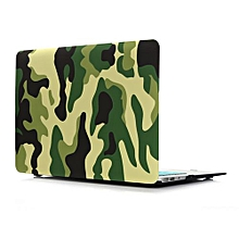 "13"" Air Case, Jungle Camouflage Hard Rubberized Cover For Macbook Air 13.3 Inch, Green"
