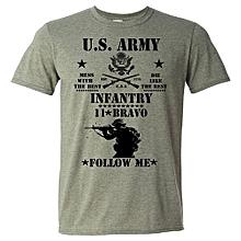 Fashion T-shirt Men U.S. Army Military Veteran Special Ops Ranger Veteran 11Bravo II Funny Print Shirts