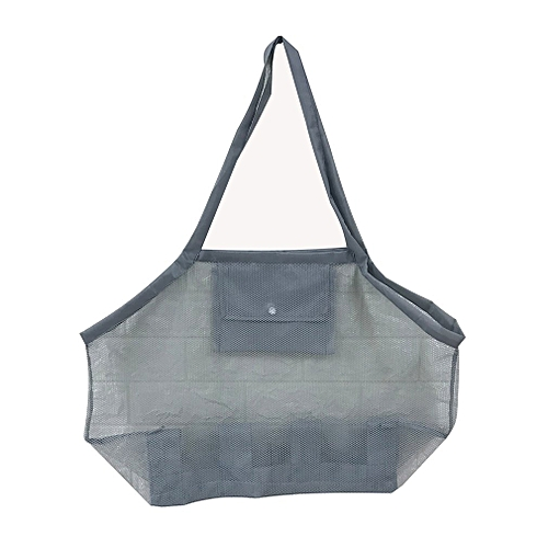 b89c778d1fb4 Allwin Portable Outdoor Beach Mesh Tote Bag Children Toys Storage Bag  Organizer gray L   Best Price